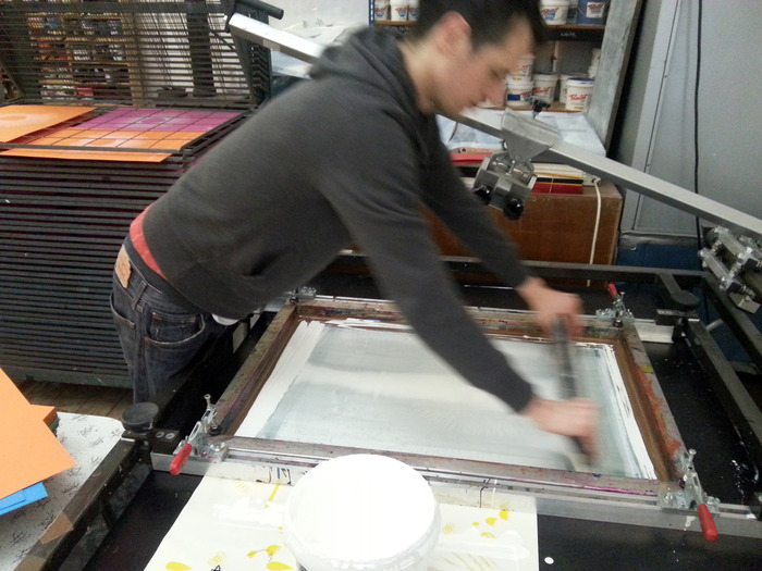 First edition prints on press