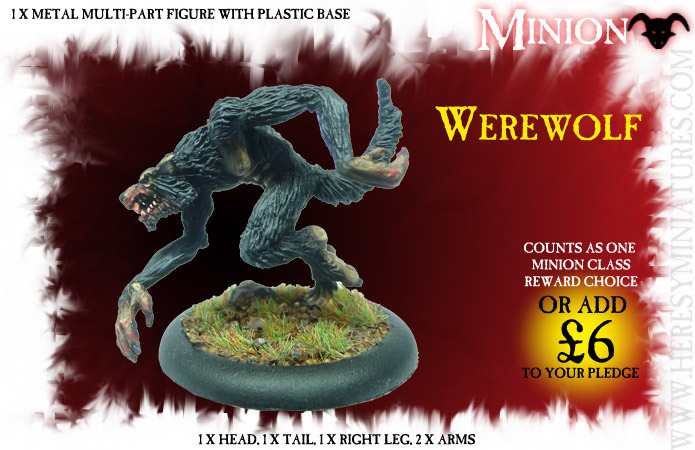 The Werewolf is here (wolf)! Choose it as a minion class reward or add-on