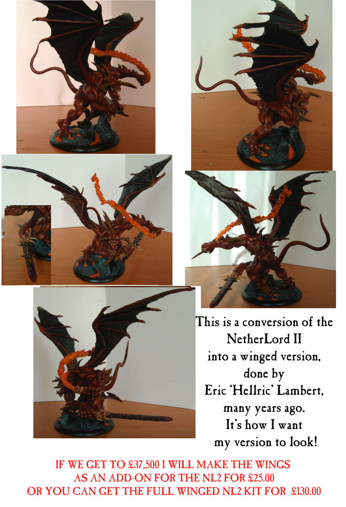 This winged NL2 was converted by Eric Lambert and is pretty much how I want mine to look, so I'm using it as an example of what I'll make. Hope that's OK, Eric!