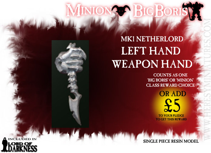 This leftt hand will allow your NetherLord MK 1 to wield two weapons!