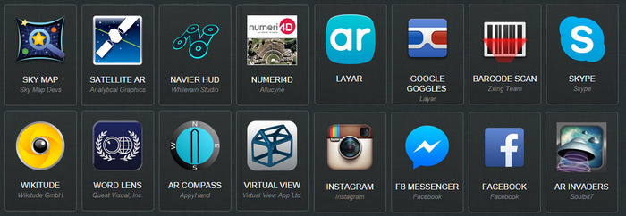 Some of the currently Available Apps on the ORA