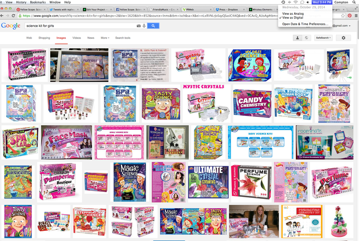 "Screenshot of Google search for ""Science Kits for Girls"" Images - Can you see us in the bottom right corner?"