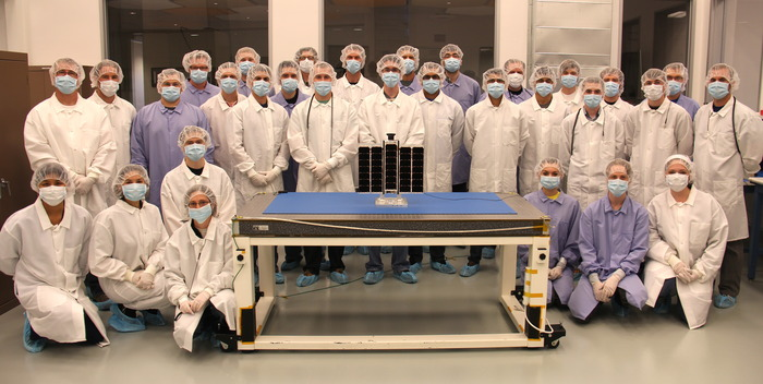 "Here is our team with the ""A3"" prior to launch delivery."