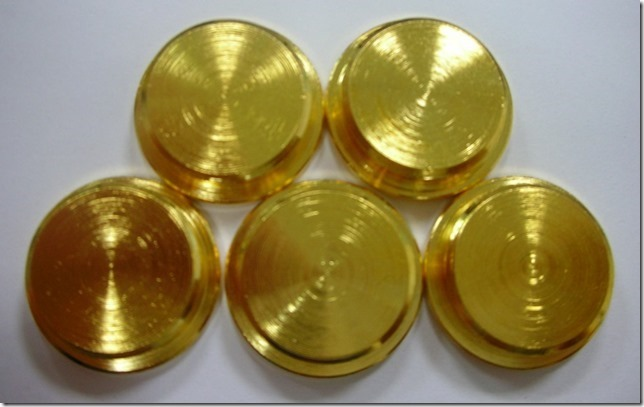 Gold plated battery caps