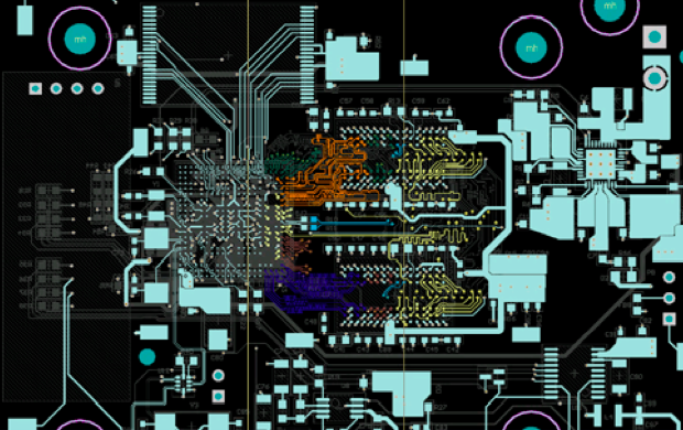 Renderings which show the intricacy of Kittyo's PCB board. This is where all the magic happens!