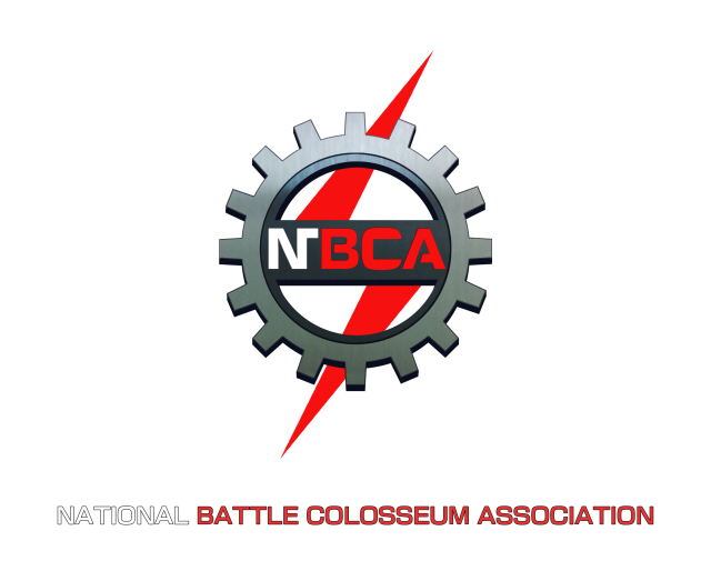 The NBCA logo contains the same gear as the arena roof. We also added a red lightning bolt to give the logo a more aggressive feel.
