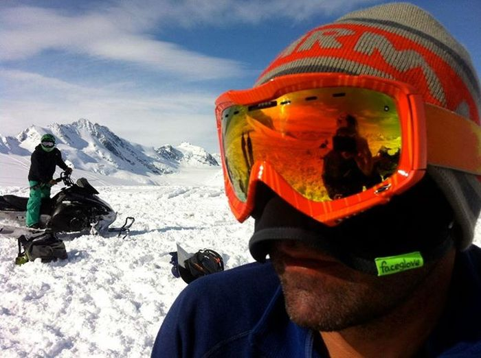 Ski-guide pals tested our first faceGlove in AK, March  2012.