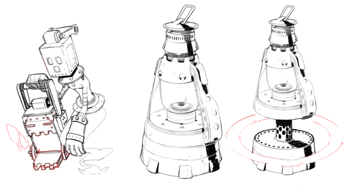 Lantern Jack, an Alert kind of enemy that will be found in the Mechanical Fortress.