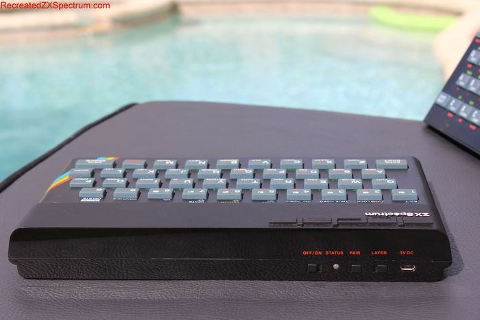 Caption: The first fully-functioning, pre-production unit of 'The recreated Sinclair ZX Spectrum'; open to backers at RecreatedZXSpectrum.com
