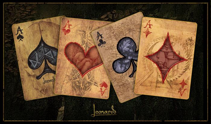 Leonardo | Art Playing Cards by Dent-de-Lion du Midi