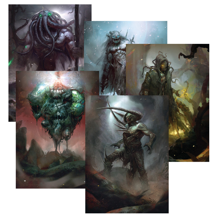 Cthulhu Mythos entities as they appear in Theomachy