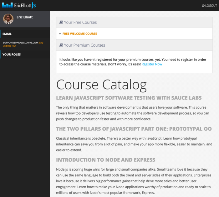 JSFeeds - Learn JavaScript with Eric Elliott is Here!