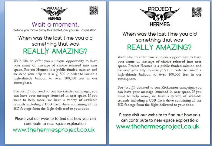 Project Hermes Leaflets