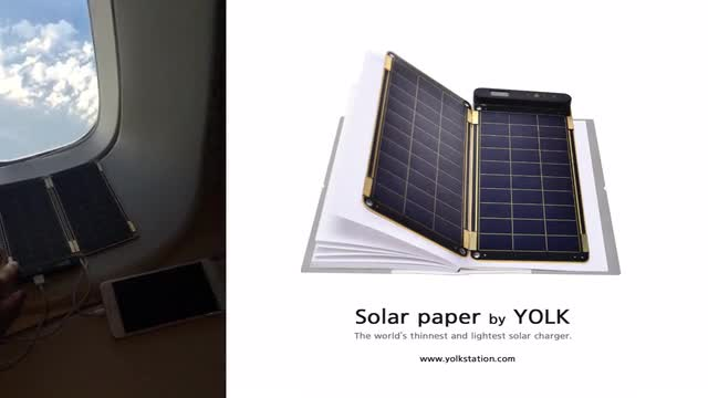 Solar Paper, the world's thinnest and lightest solar charger