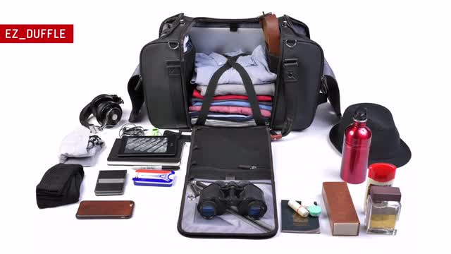 EZ Duffle Easily ORGANIZE Travel Daily Carry With ONE BAG By