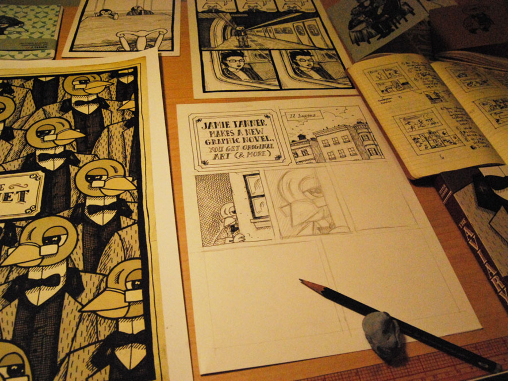 Jamie Tanner Makes A New Graphic Novel, You Get Original Art (and More)'s video poster