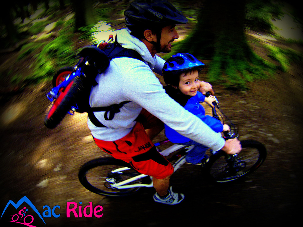 Mac Ride - A Unique Child Seat for Adult Mountain Bikes's video poster