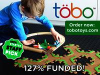 Tobo Track - Liquid wood eco-toy tracks for Thomas & Lego!