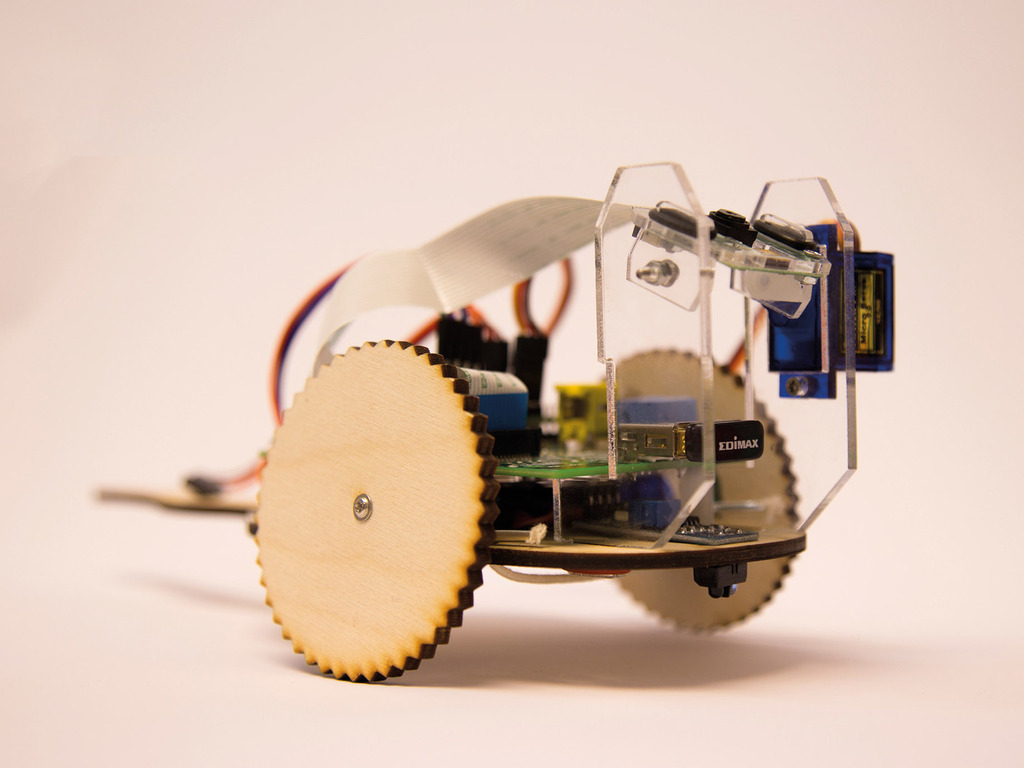 TiddlyBot fun and simple Raspberry Pi Robot's video poster