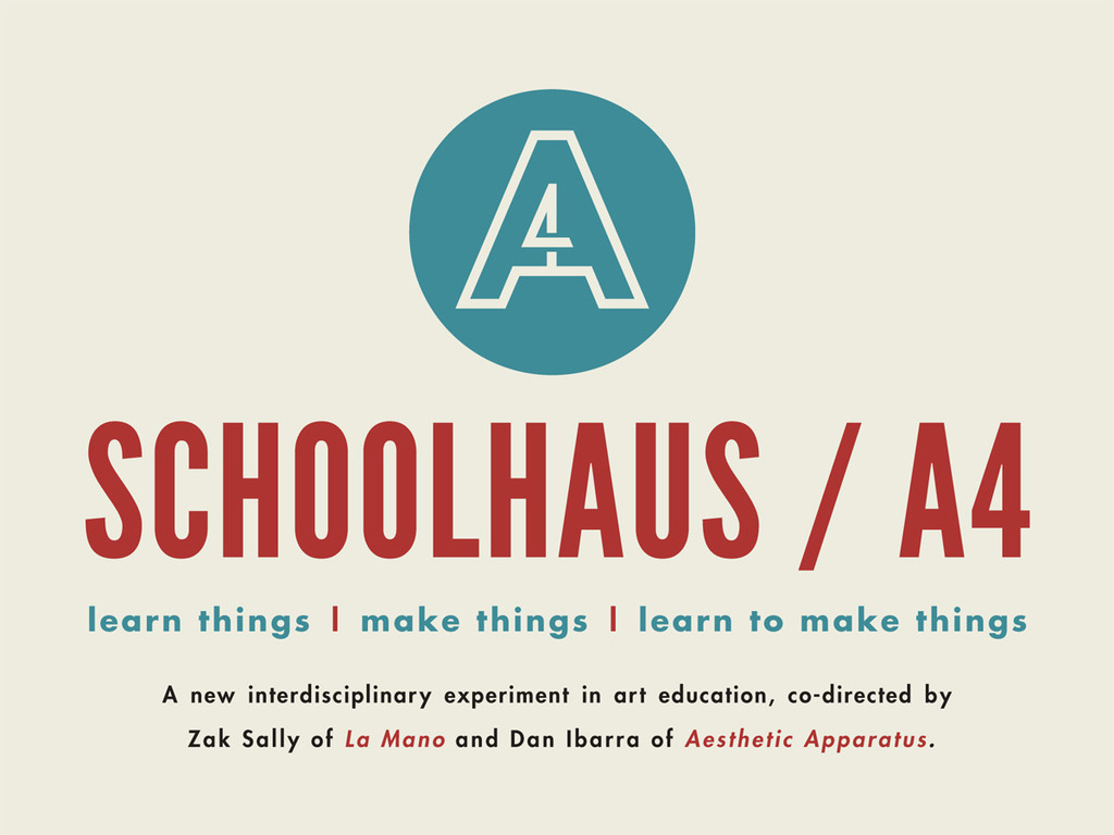 SCHOOLHAUS / A4's video poster