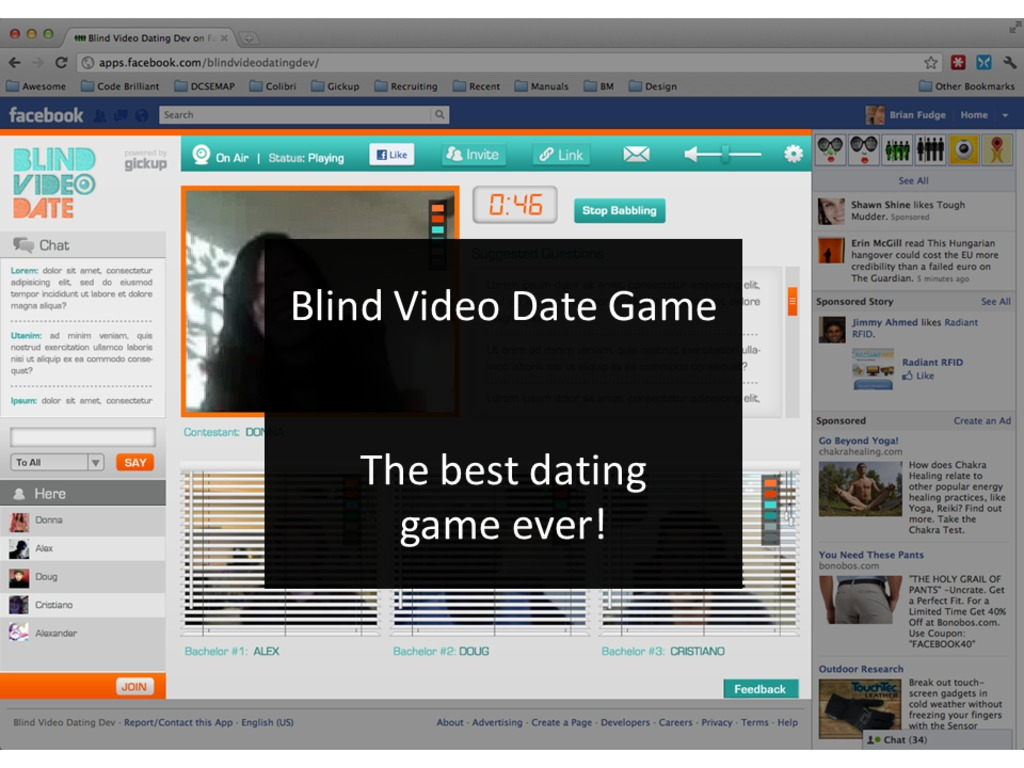 Blind Video Date Game's video poster
