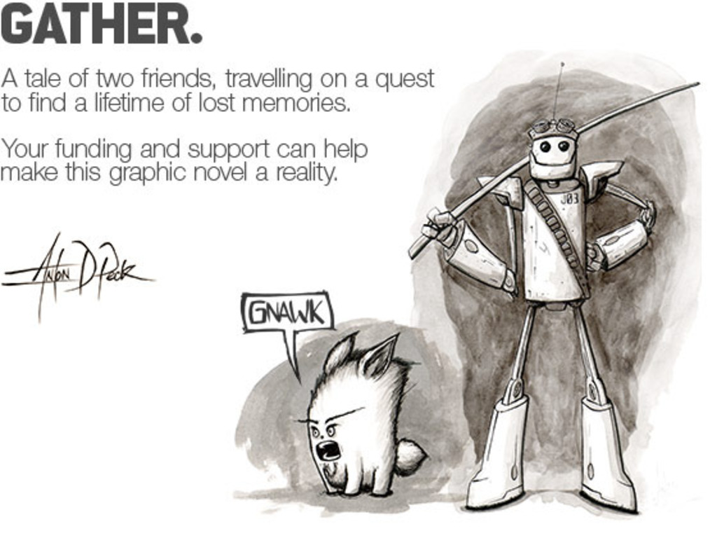 GATHER. A Graphic Novel's video poster