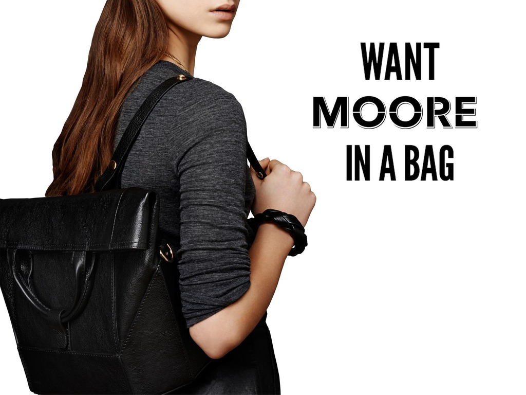 Want MOORE in a Bag? Introducing the CONVERTIBLE  BACKPACK's video poster