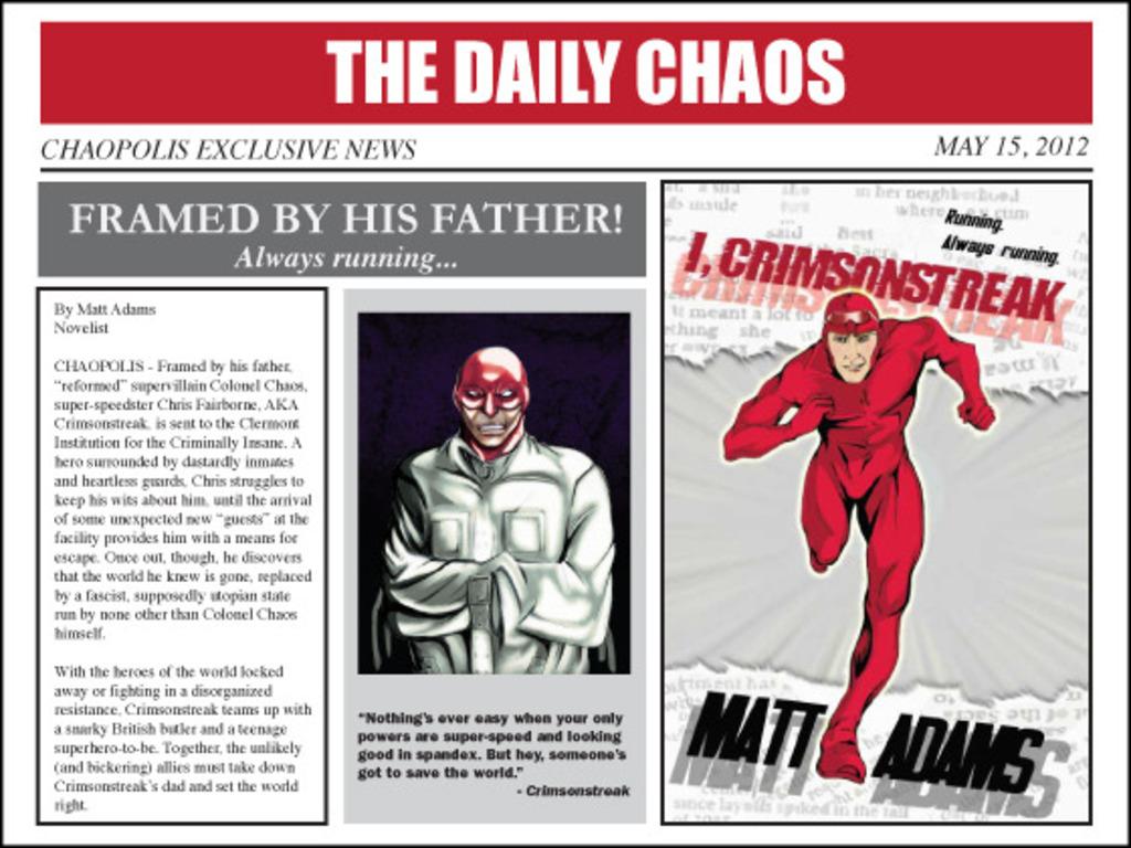 Print Release of I, Crimsonstreak's video poster