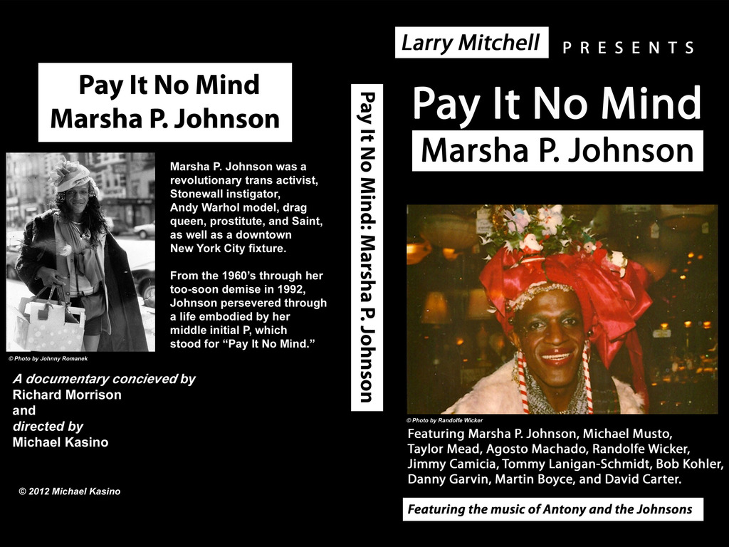 Pay It No Mind: Marsha P. Johnson's video poster