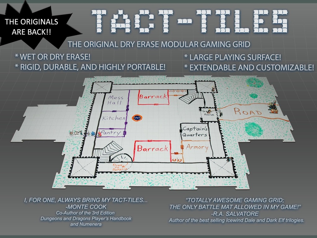 Tact-Tiles: Modular Wet and Dry Erase Gaming Surface's video poster
