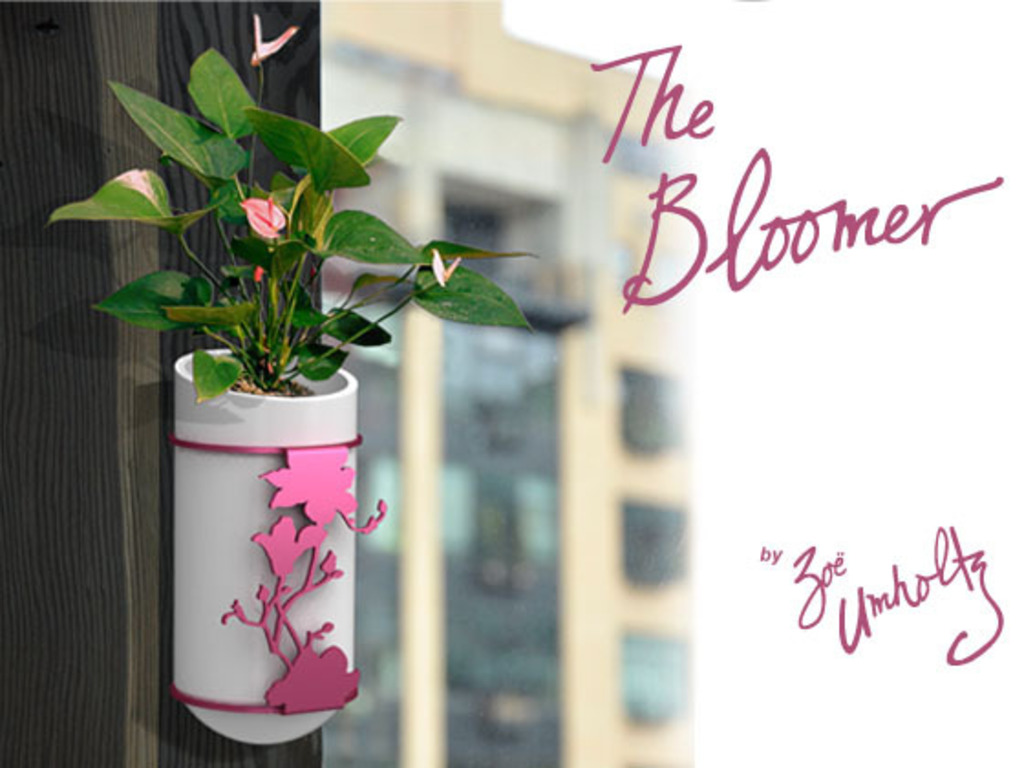 The Bloomer - a modern wall mounted planter/vase.'s video poster
