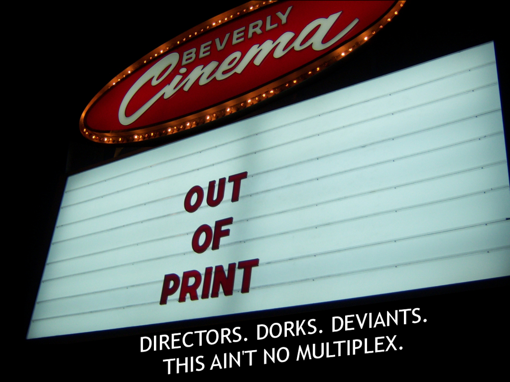 Out of Print - A Documentary about the New Beverly Cinema's video poster