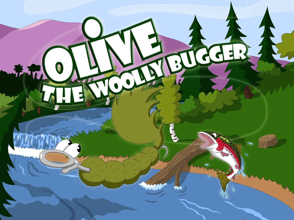 Olive the Woolly Bugger app's video poster