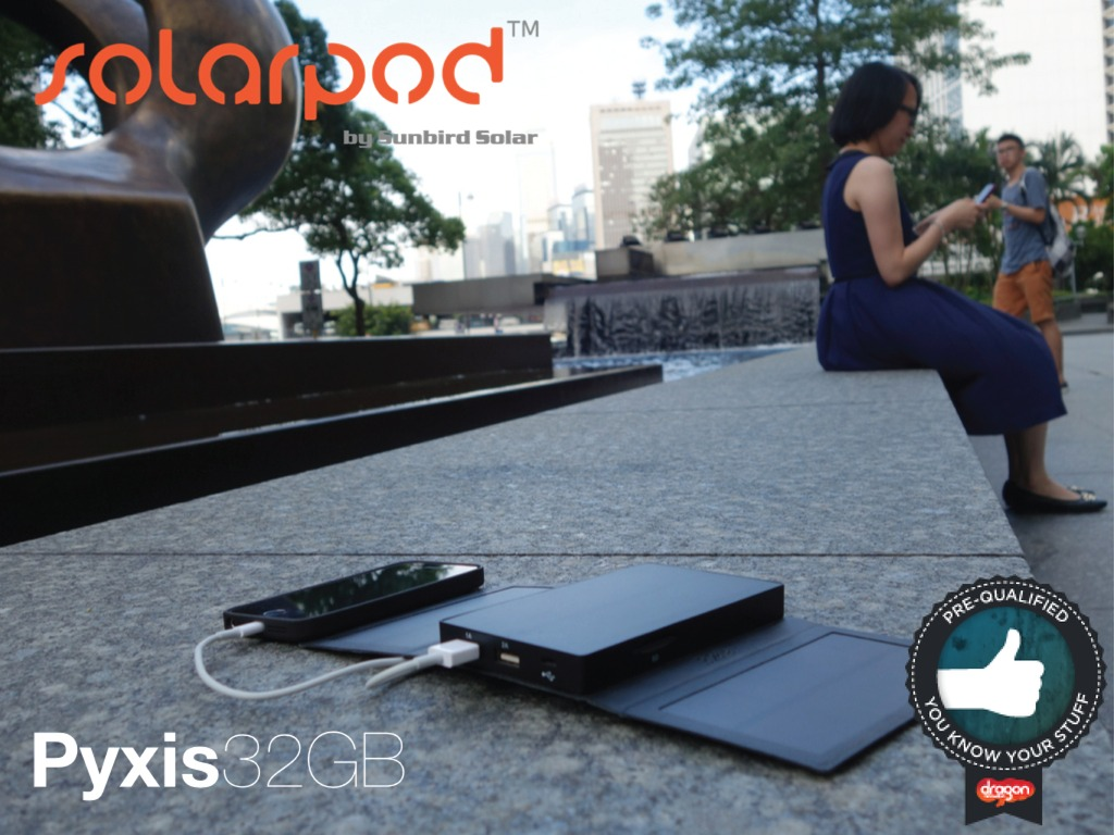 Solarpod Pyxis, The Best Portable USB Battery Pack & Charger's video poster