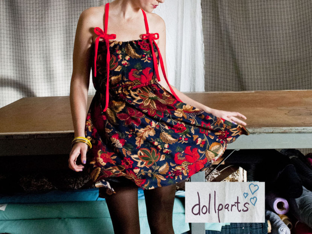 dollparts recycled clothing line's video poster