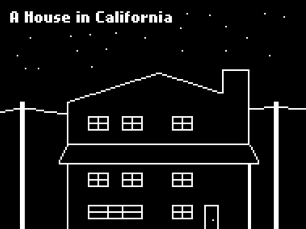 'A House in California,' a point+click art game's video poster