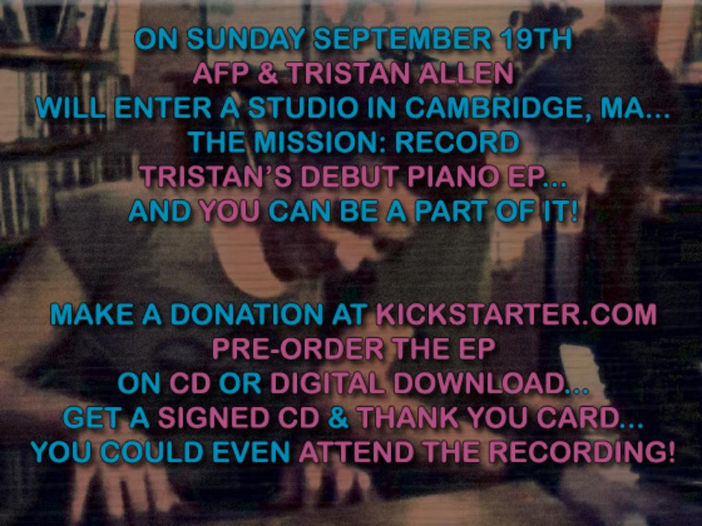 Amanda Palmer Presents: Tristan Allen's Debut EP (Recording/Release)'s video poster