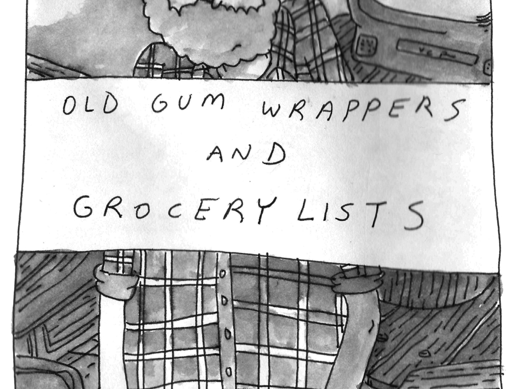 Old Gum Wrappers and Grocery Lists's video poster