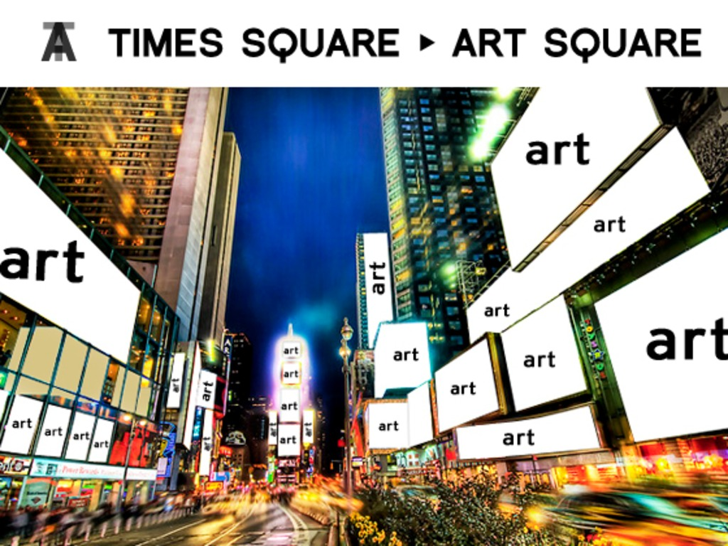 Times Square to Art Square (turn all billboards into art)'s video poster
