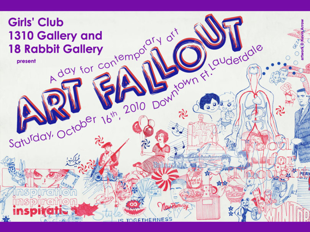 Art Fallout 2010: A Day for Contemporary Art in downtown Fort Lauderdale's video poster