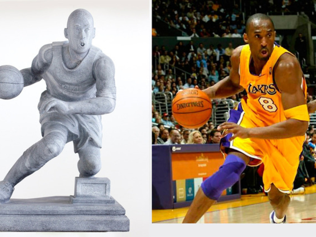 Hand made Marble statues of Kobe Bryant, LeBron and Messi.'s video poster
