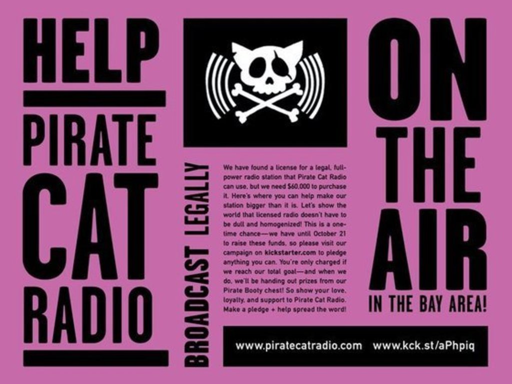 4 hours left: Bring PIrate Cat Radio Back to Your FM Dial!!'s video poster