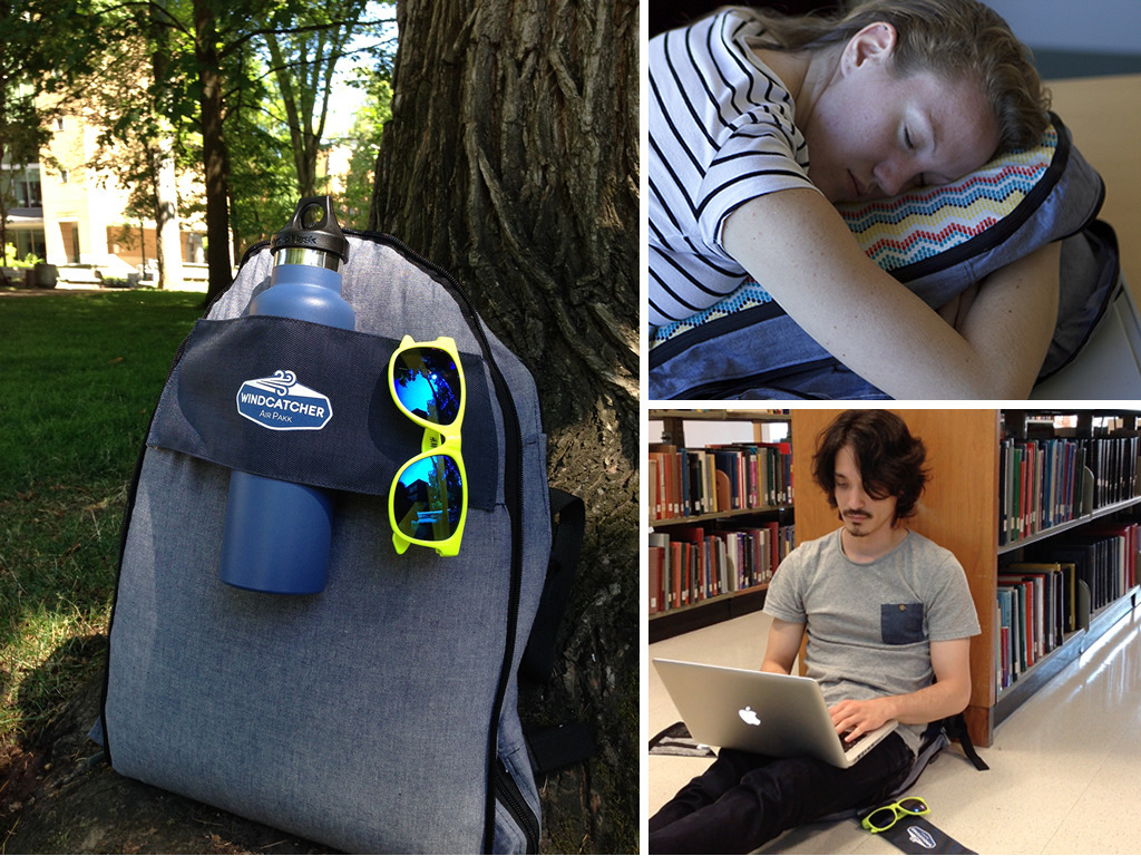 Air Pakk: Self-Inflating Backpack doubles as pillow & pad's video poster