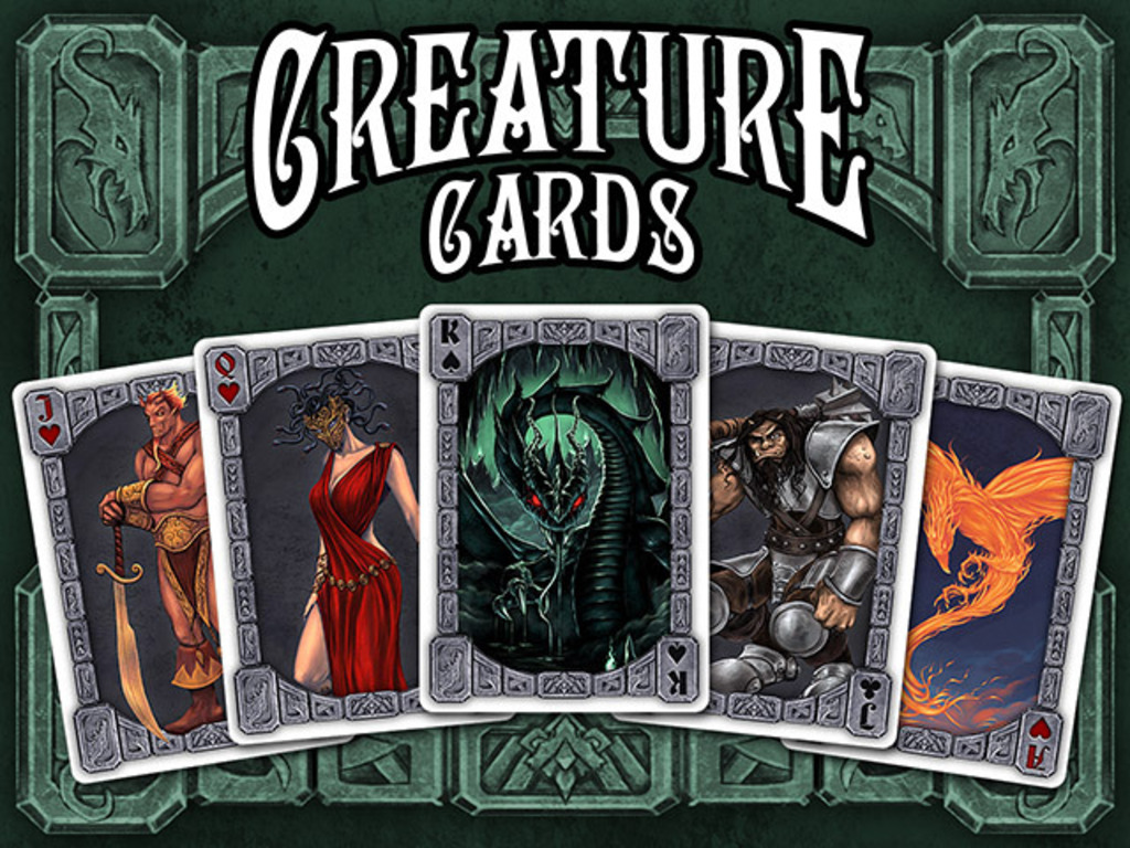 Creature Cards - monstrous playing cards for games or rpgs's video poster