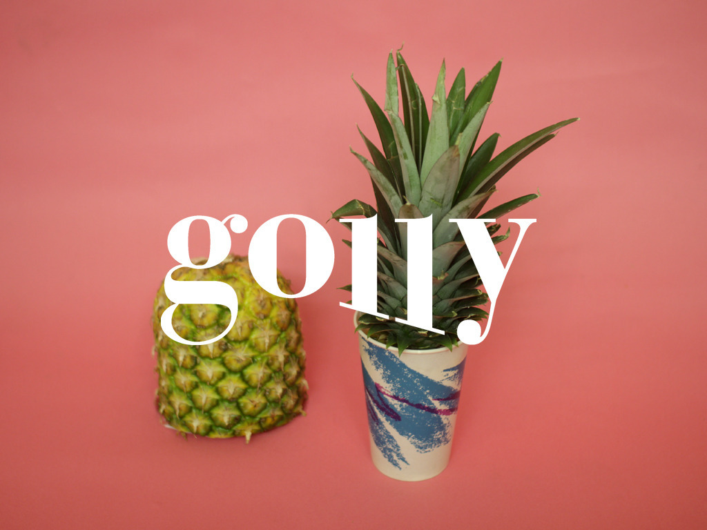 Golly Magazine's video poster