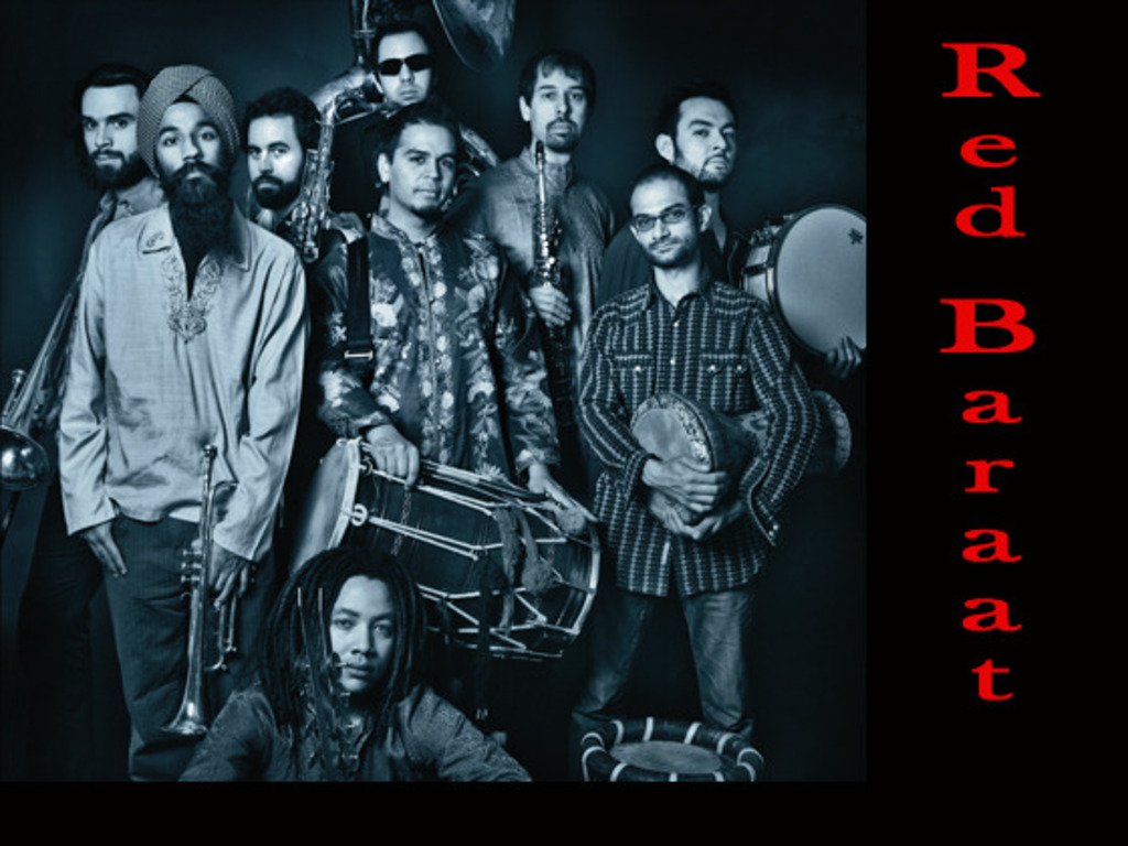 """Red Baraat is recording their CD """"Shruggy Ji"""" 's video poster"""