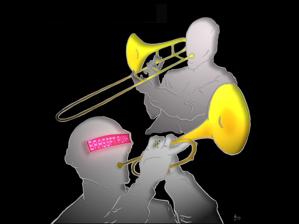 Brassft Punk - Daft Punk tribute via New Orleans brass band's video poster