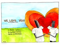 'We Love You'- creative book for family facing separation.