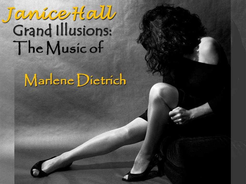 """Grand Illusions: The Music of Marlene Dietrich"" cabaret show's video poster"