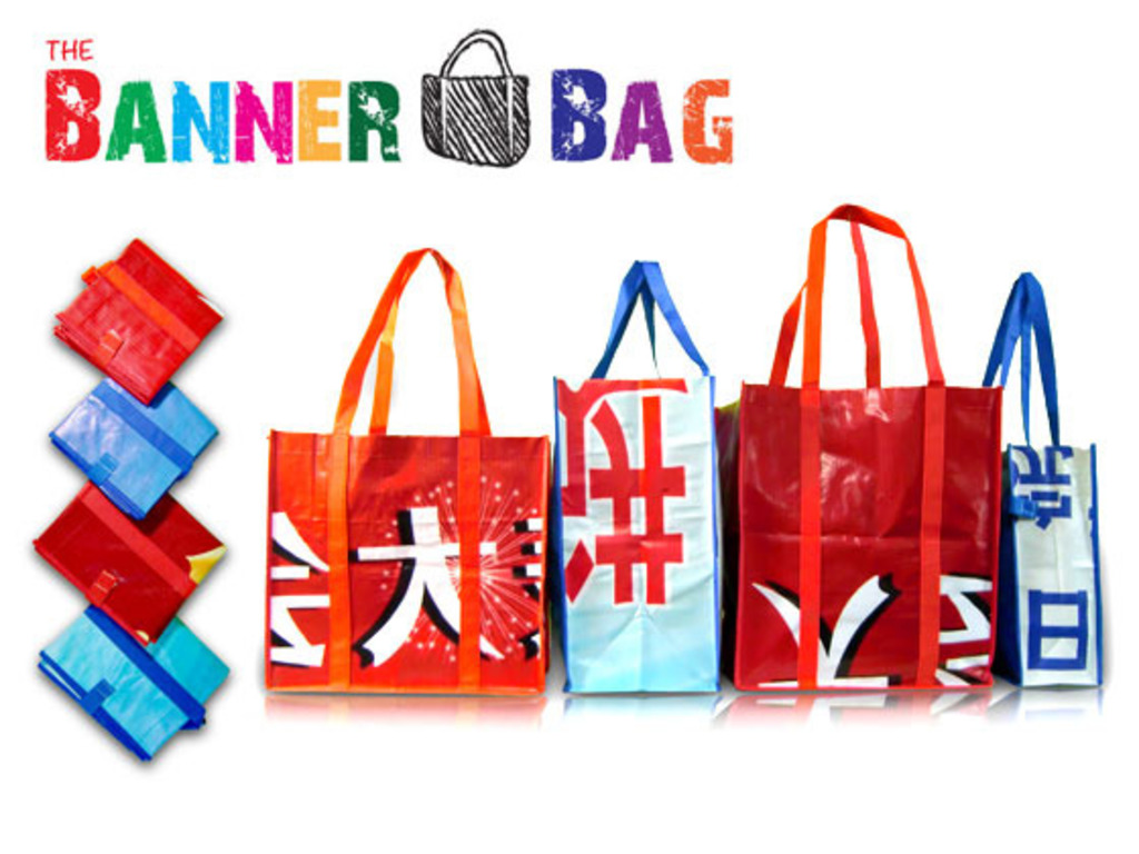 The BANNER BAG - Tote bags from reclaimed materials's video poster